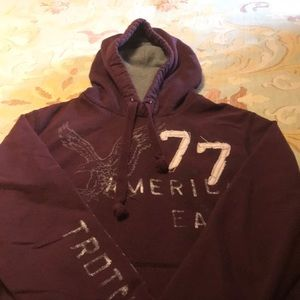American Eagle men's hoodie, thermal lined hood.